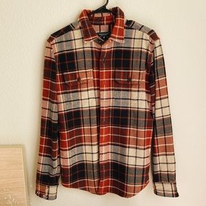 American Eagle red & tan thick flannel
